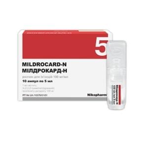 МИЛДРОКАРД-Н АМП 100МГ/МЛ 5МЛ №10