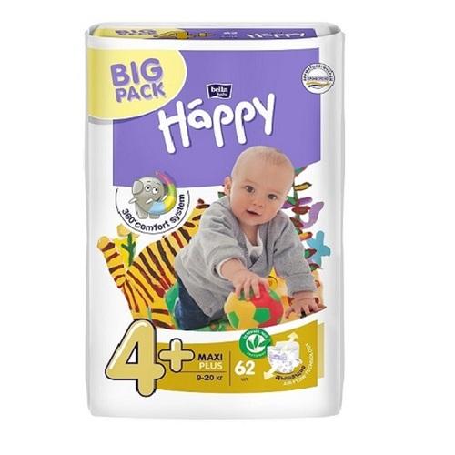 БЕЛЛА Підгузки д/діт. Baby Happy Maxi Plus 9-20кг №62 - фото 1 | Сеть аптек Viridis