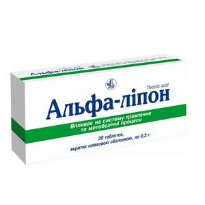АЛЬФА-ЛІПОН ТАБ. 0,3Г №30