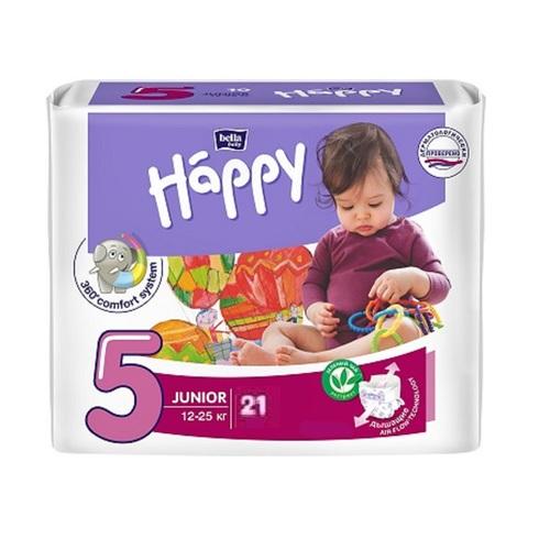 БЕЛЛА Підгузки д/дет. Baby Happy Junior (21шт) - фото 1 | Сеть аптек Viridis