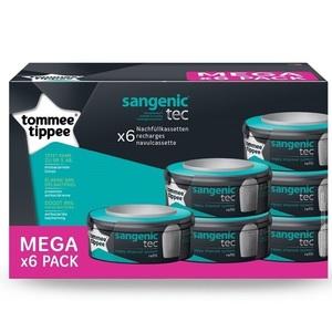 TOMMEE TIPPEE Сменная кассета для накопителя подгузников Sangenic Tec 6 шт