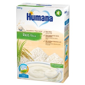 ХУМАНА Organic Каша безмолочна рисова з 6 міс. 200г