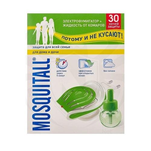 МОСКИТОЛ Набор от комаров Жидкость 30 ночей Защита для всей семьи 30мл+электрофумигатор