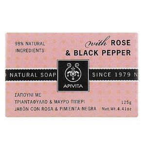 АПИВИТА Мыло с розой и чёрным перцем 125г