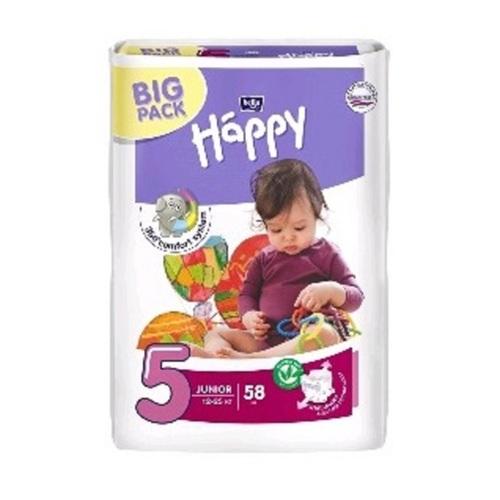 БЕЛЛА Підгузки д/дет. Baby Happy Junior (58шт) - фото 1 | Сеть аптек Viridis