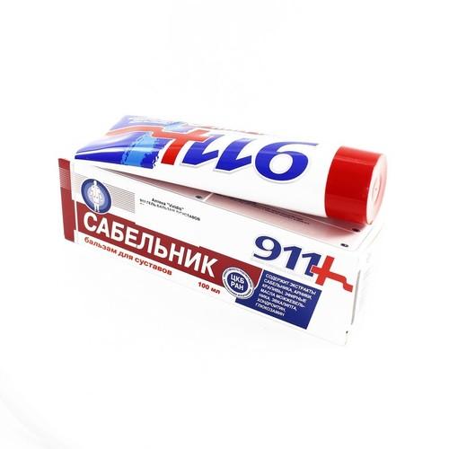911 ГЕЛЬ-БАЛЬЗАМ Д/СУСТАВОВ САБЕЛЬНИК 100МЛ купить в Славутиче