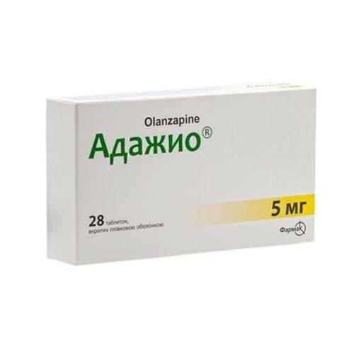 АДАЖИО ТАБ.П/О 5МГ# 28(7X4) - фото 1 | Сеть аптек Viridis