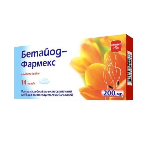 БЕТАЙОД-ФАРМЕКС ПЕСС.200МГ#14 - фото 1 | Сеть аптек Viridis