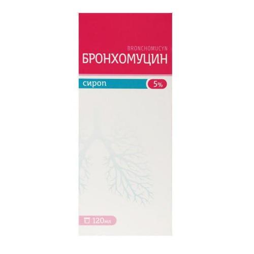 БРОНХОМУЦИН СИРОП 5%120МЛ#1ФЛ. - фото 1 | Сеть аптек Viridis