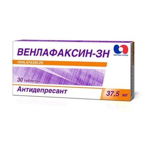 ВЕНЛАФАКСИН-ЗН ТАБ.37.5МГ#10Х3 - фото 1   Сеть аптек Viridis