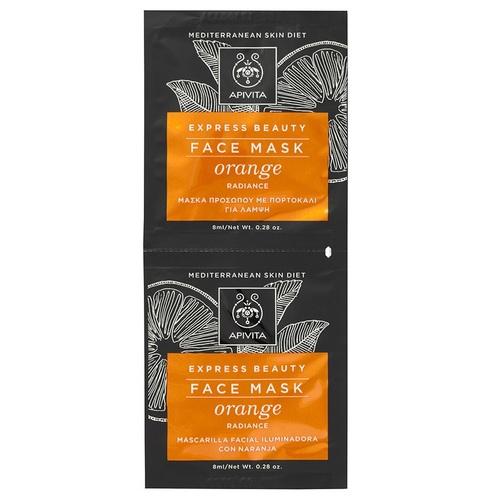 АПИВИТА EXPRESS BEAUTY Маска для обличчя з апельсином