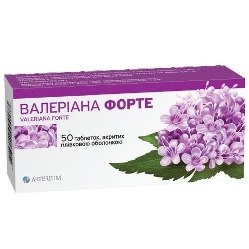 ВАЛЕРІАНА ФОРТЕ ТАБ. 40МГ №50