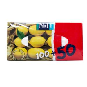 БЕЛЛА Хустинки універс. двошарові з ароматом.лимону №1 100+50шт