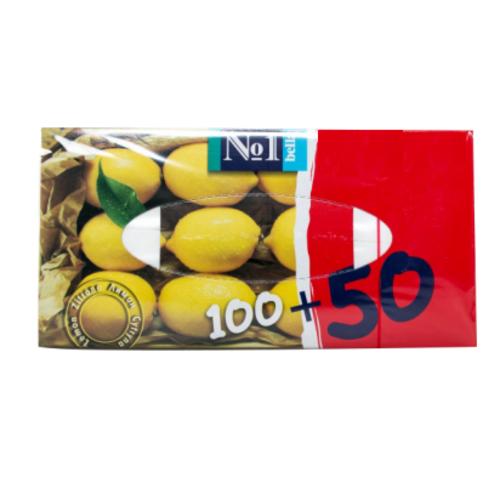 БЕЛЛА Платочки универс. двухслойные (лимон)  №1 100+50шт - фото 1 | Сеть аптек Viridis
