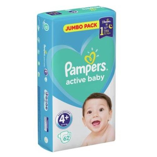 ПАМПЕРС Дет. подгуз. Act. baby Maxi Plus (10-15кг) Джамбо №62 - фото 1   Сеть аптек Viridis
