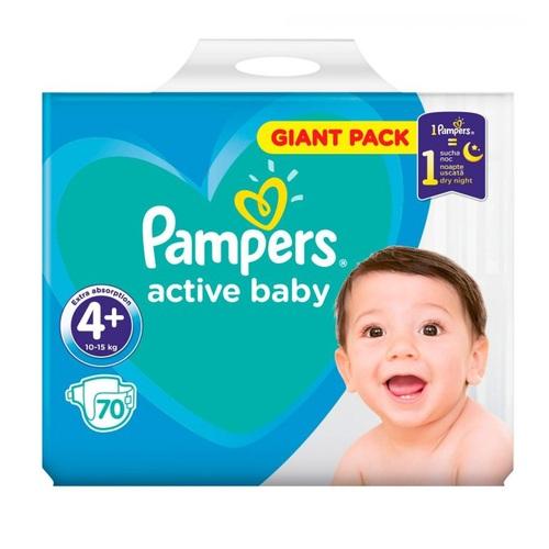 ПАМПЕРС Дет. подгуз. Act. baby Maxi Plus (9-16 кг) Джайнт №70 - фото 1 | Сеть аптек Viridis