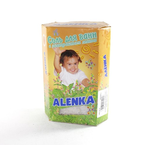 АЛЕНКА Сіль для ванн дитяча (з екстрактом м'яти)  500 г купить в Броварах
