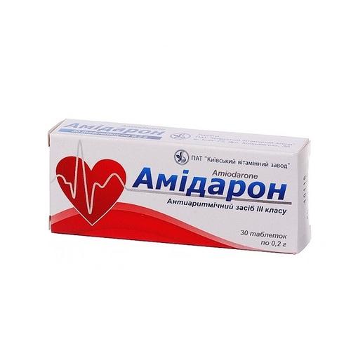 АМІДАРОН ТАБ. 0,2Г №30 купити в Броварах