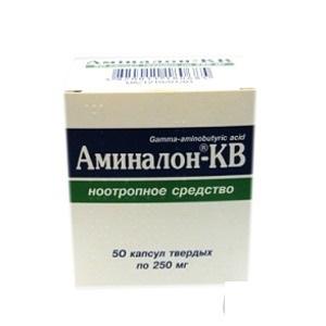 АМІНАЛОН-КВ КАПС. 0,25Г №50
