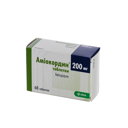 АМІОКОРДИН ТАБ. 200МГ №60 купити в Славутиче