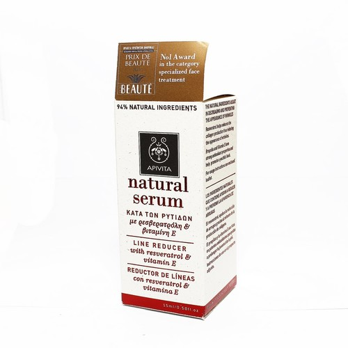 АПІВІТА Натуральна сироватка - проти зморшок з ресвератролом і вітаміном Е 15мл купити в Славутиче