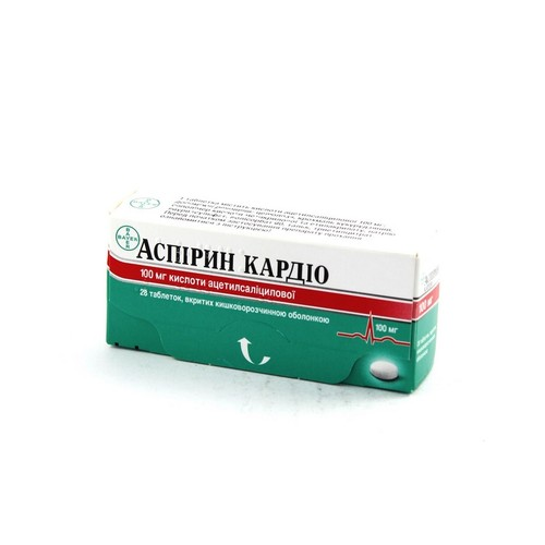 АСПІРИН КАРДІО ТАБ. 100МГ №28 купити в Славутиче