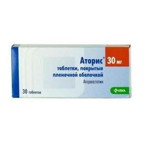 АТОРИС ТАБ. 30МГ №30