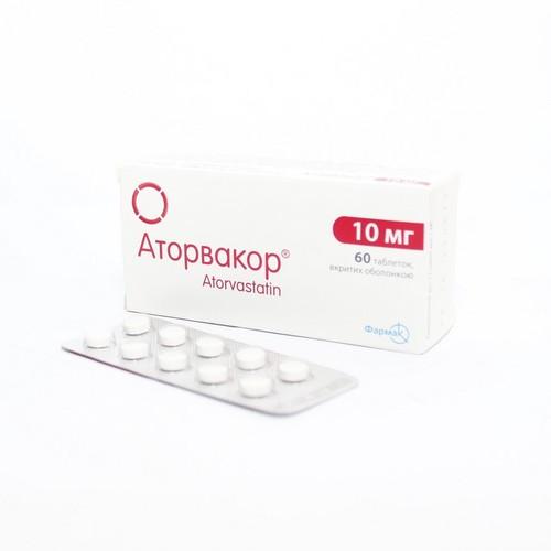 АТОРВАКОР ТАБ. 10МГ №60 купить в Харькове
