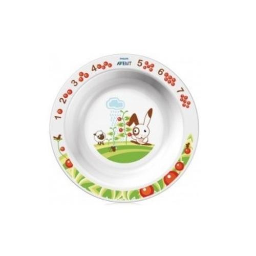 АВЕНТ Большая глубокая тарелка с рисунками от 12 мес.