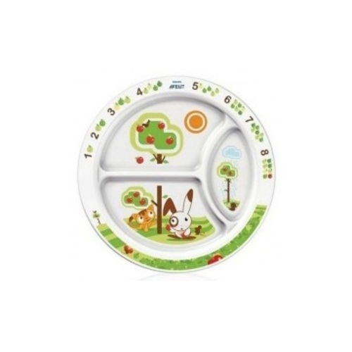 АВЕНТ Детская тарелка с рисунками от 12 мес.