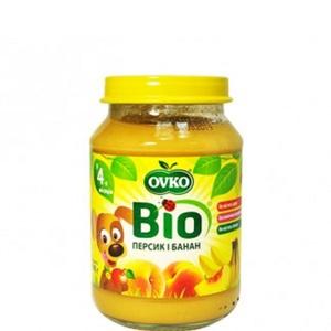 ОВКО Пюре органическое Банан и персик 190г