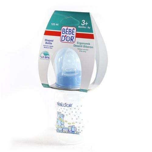 БЕБЕ ДОР Бутылочка силикон.соска, средн.поток,125мл.(78302) купити в Житомире