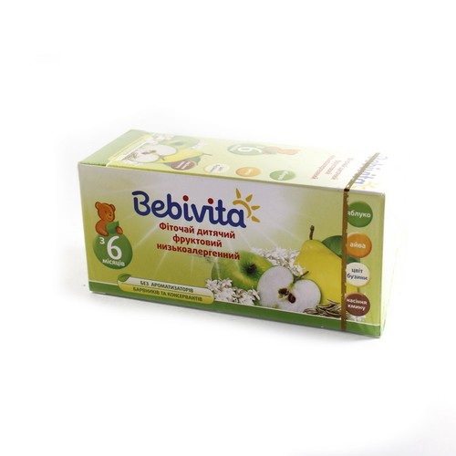 БЕБИВИТА Фиточай детский фруктовый низкоаллергенный 30г