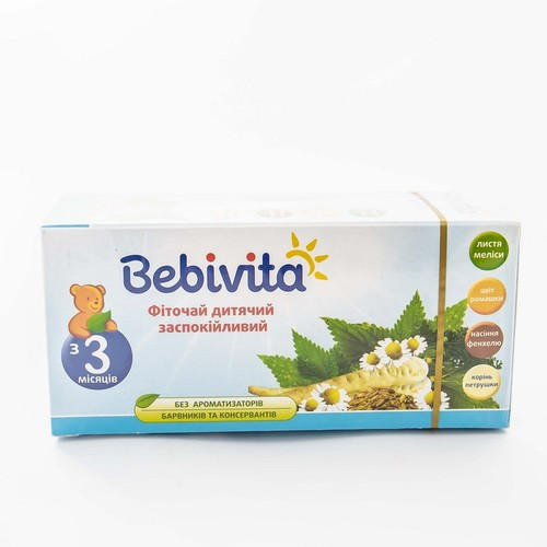 БЕБИВИТА Фиточай детский успокаивающий 30г купить в Броварах