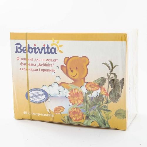 БЕБИВИТА Фитованна для младенца с календулой и крапивой