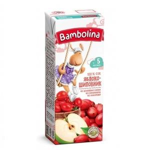 БАМБОЛИНА Сок Яблоко- шиповник 200 мл с 5 мес.