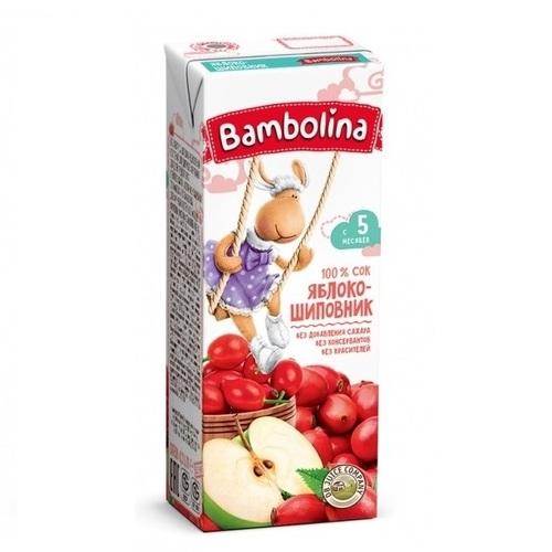 БАМБОЛИНА Сок Яблоко- шиповник 200 мл с 5 мес. - фото 1 | Сеть аптек Viridis