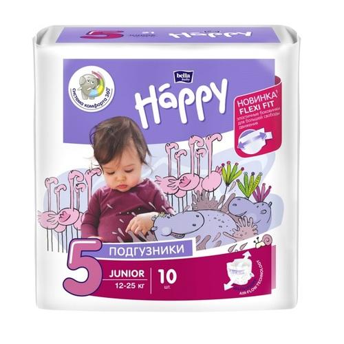 БЕЛЛА Підгузки д/діт. Baby Happy Junior 12-25кг №10 - фото 1 | Сеть аптек Viridis