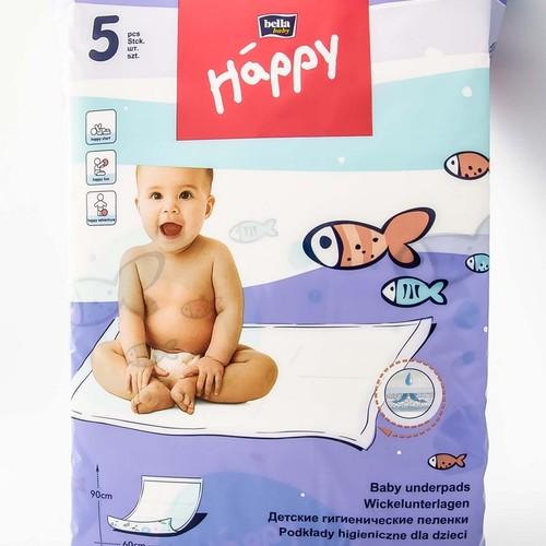 БЕЛЛА Пелёнки для младенцев Happy Baby 60х90 5 шт купити в Ирпене