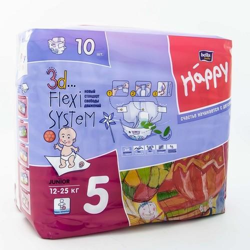БЕЛЛА Подгузники д/дет. Baby Happy Junior 12-25 кг № 10 купити в Киеве