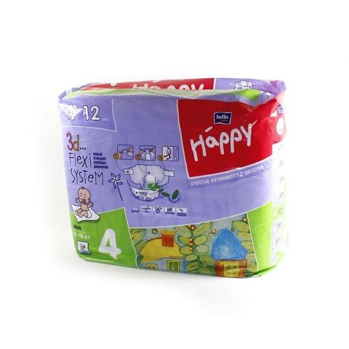 БЕЛЛА Подгузники д/дет. Baby Happy Maxi 8-18 кг № 12 купить в Ирпене