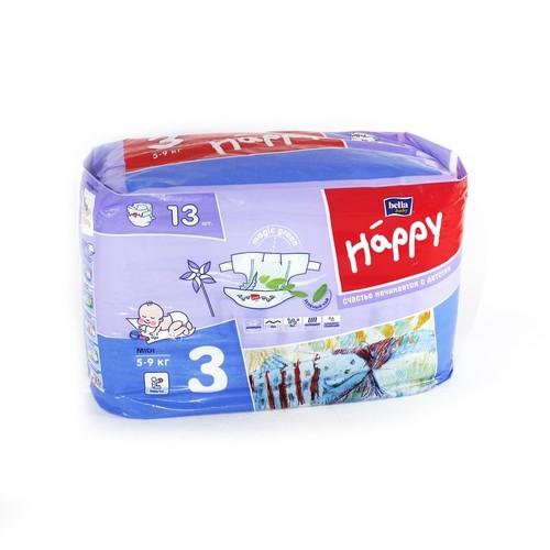 БЕЛЛА Подгузники д/дет. Baby Happy Midi 5-9 кг № 13 купити в Киеве