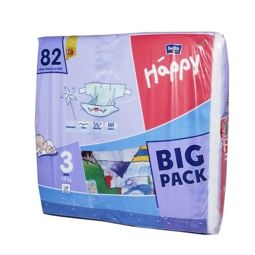 БЕЛЛА Подгузники д/дет. Baby Happy Midi 5-9 кг №82 купить в Броварах