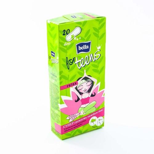 БЕЛЛА Прокладки гигиен.ежедн.For Teens Relax deo green tea,20 шт