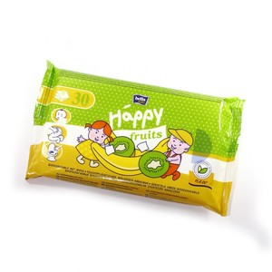 БЕЛЛА Салфетки влажные Happy с ароматом банана и киви, 30шт