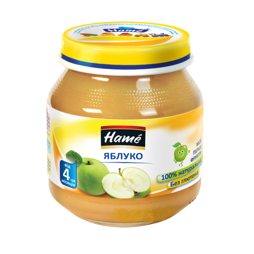 ХАМЕ Пюре яблоко 125г - фото 1 | Сеть аптек Viridis