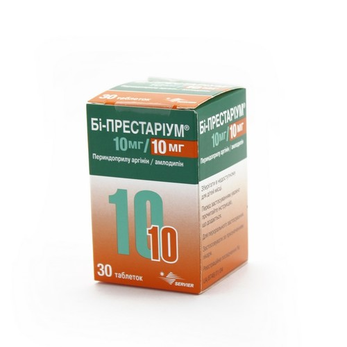 БІ-ПРЕСТАРІУМ ТАБ. 10МГ/10МГ №30 купити в Ирпене