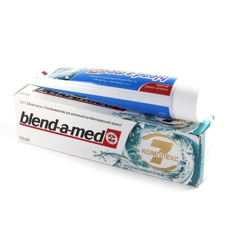 БЛЕНДАМЕД зуб. паста 2 в 1 КОМПЛЕКС 7 с ополаскивателем 100мл купить в Житомире