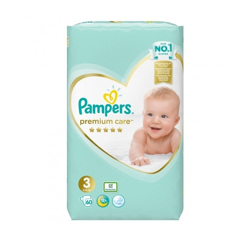 ПОДГУЗНИКИ PAMPERS PREM. CARE (5-9КГ) №60 - фото 1 | Сеть аптек Viridis