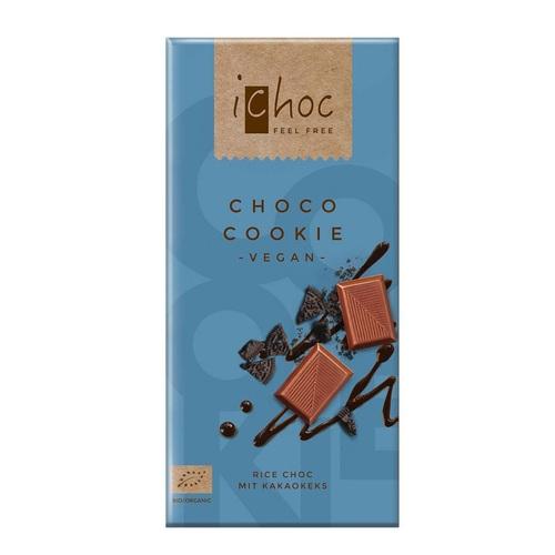 Людвиг Вайнрих Шоколад зі шматочками печіва 80г органічний(Choco Cookie)
